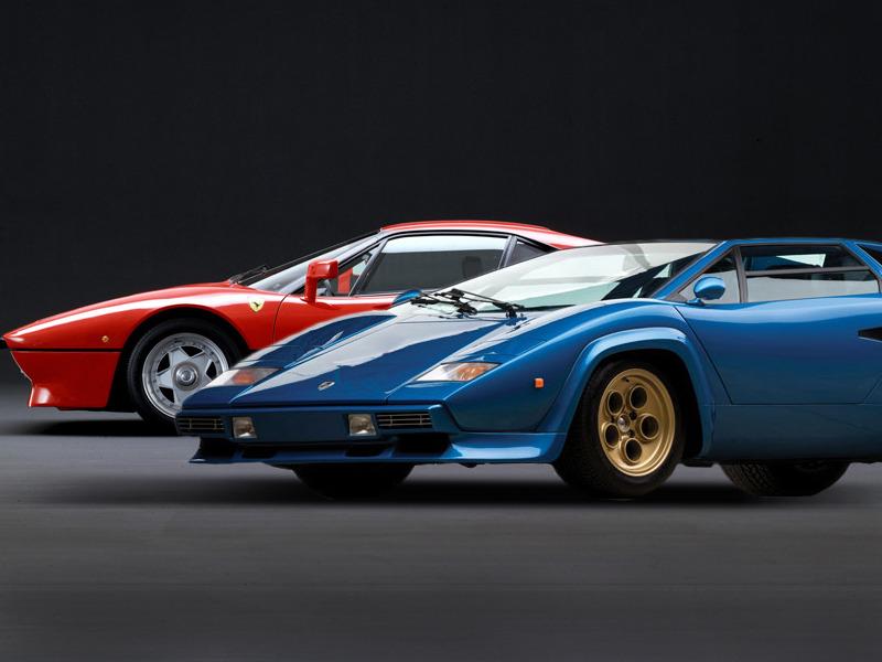 Vintage Versus Lamborghini Countach Lp400s Vs Ferrari 288 Gto
