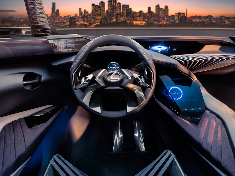 lexus ux concept interior shows us the future of car tech web2carz. Black Bedroom Furniture Sets. Home Design Ideas