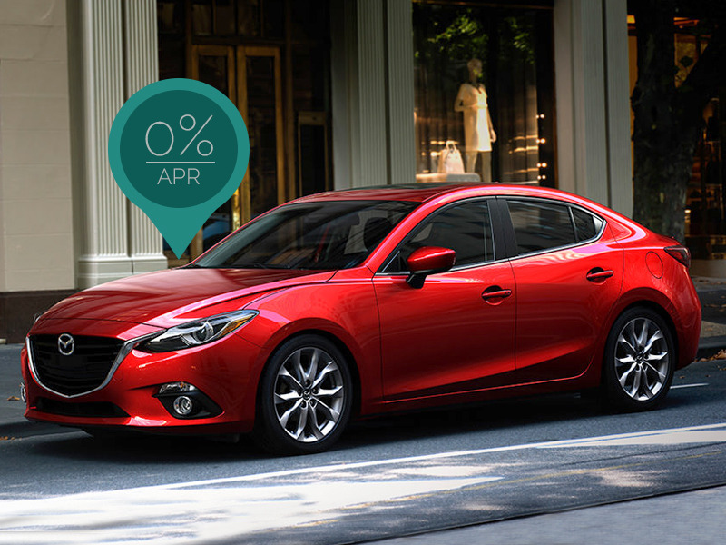 Zero percent APR on a Mazda3 means you can get it for a steal.