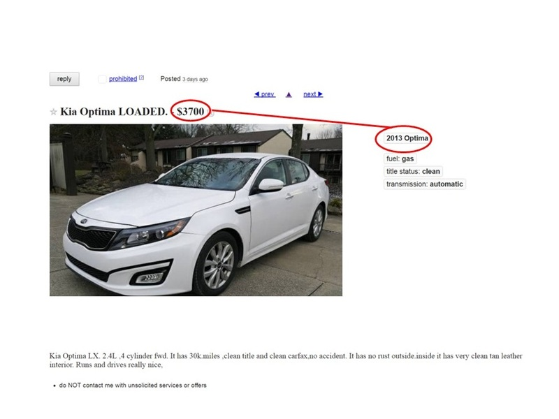 New Craigslist Car Scam