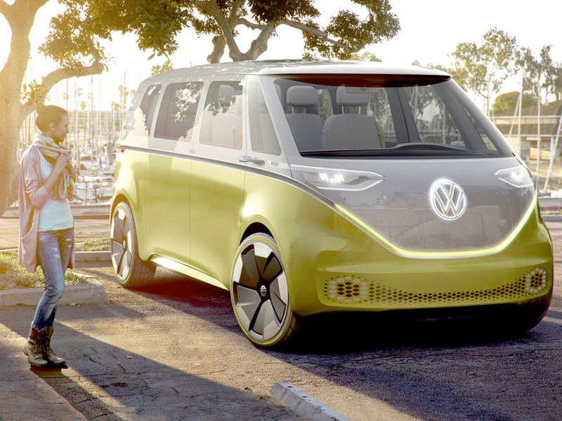 The upcoming VW microbus will likely resemble the ID Buzz concept vehicle.
