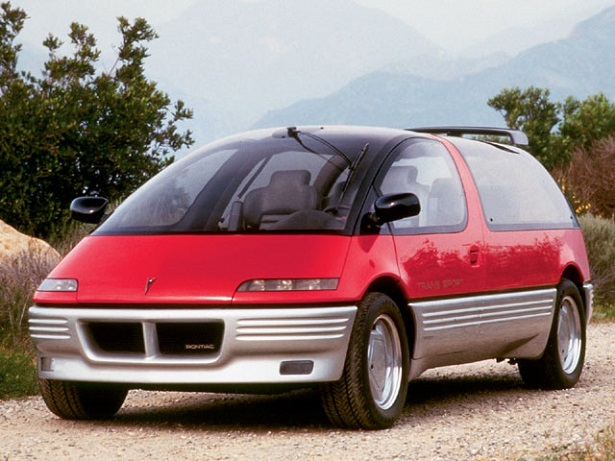 Pontiac Actually Got The Slippery Shape Right Back In 1986 With Trans Sport Concept It Looked Like Part Minivan Spacepod And Even Boasted A