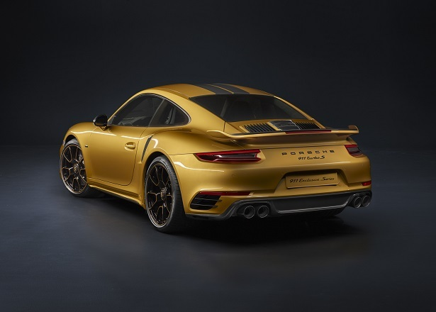 911 turbo s exclusive rear 34