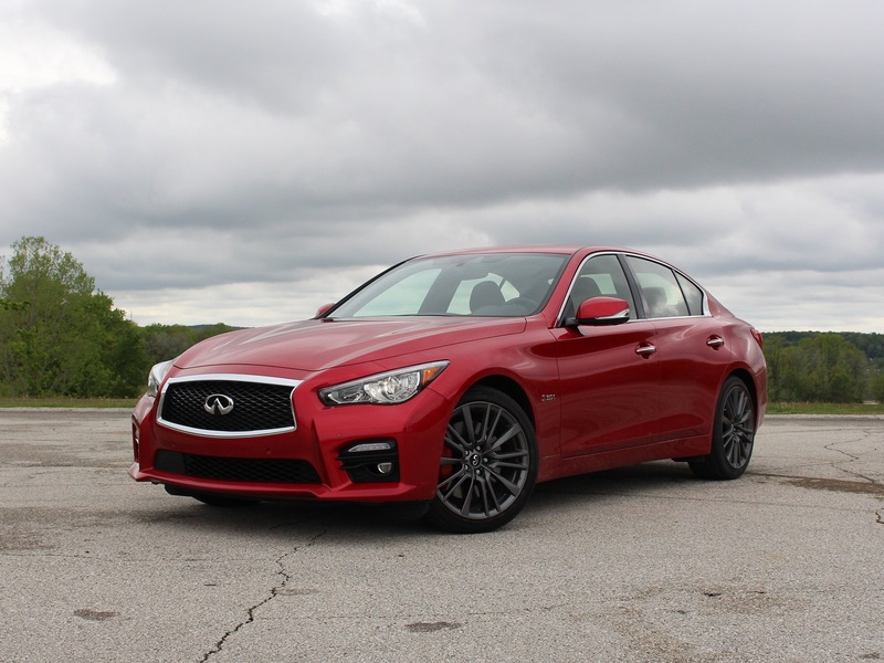 The Infiniti Q50 Red Sport 400 is beautiful and fast.