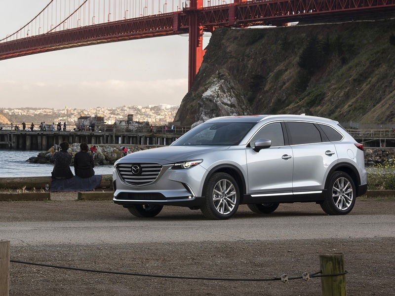 The Mazda CX-9 is the closest to being premium brand worthy.