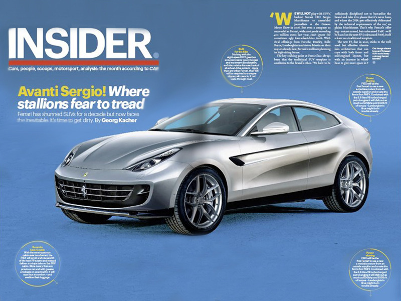 Here's a look at what the Ferrari SUV could be. Photo: CAR Magazine
