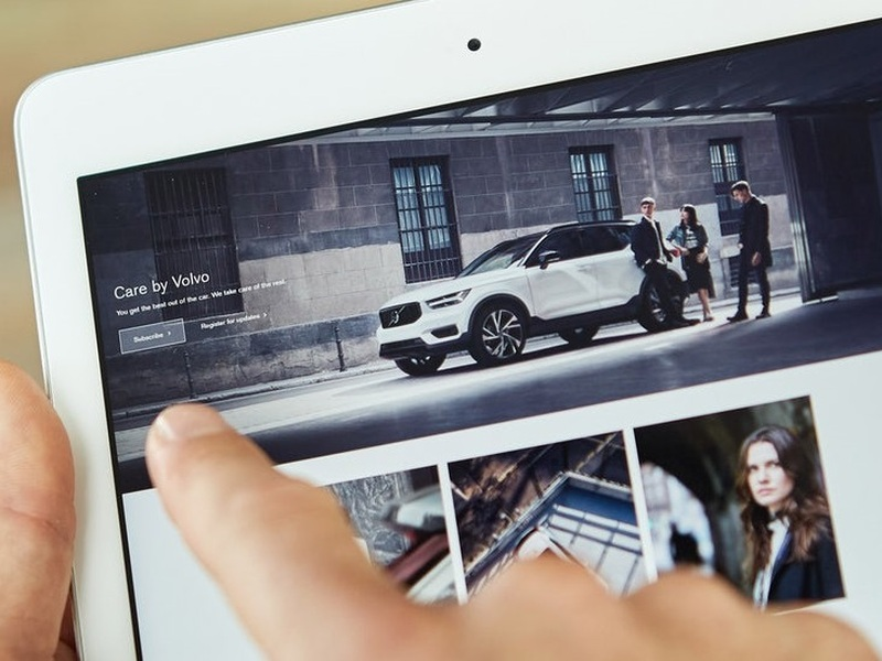 Volvo is trying to make car leasing as simple as a swipe of the finger.
