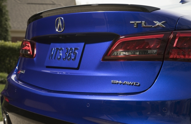 2018 Acura TLX A-Spec rear close up
