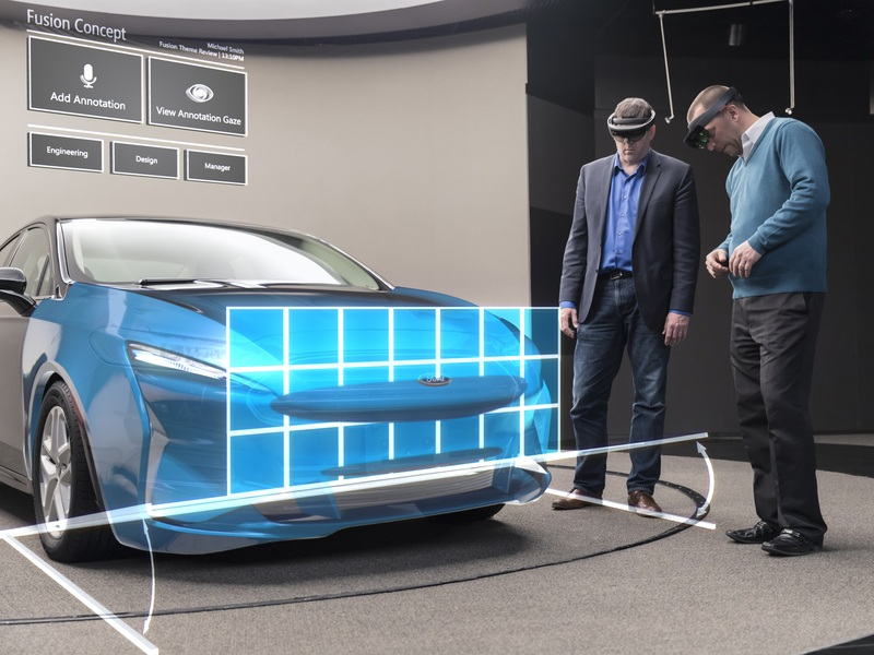 Ford uses Microsoft's Hololens to augment its design reality.