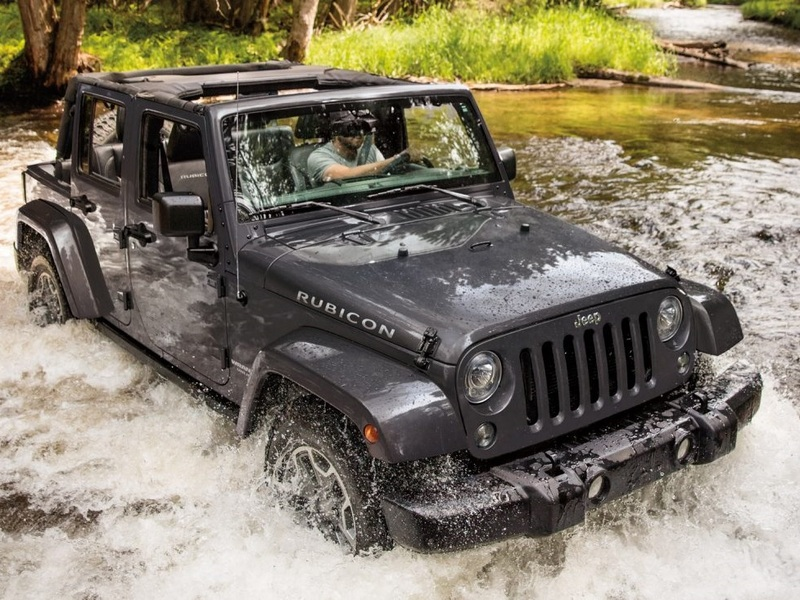 You won't catch many Jeep Wrangler owners trying this.