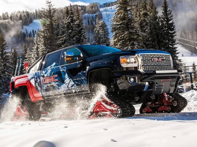 The 2018 Gmc Sierra 2500hd All Mountain Concept Is A Snowy Sasquatch