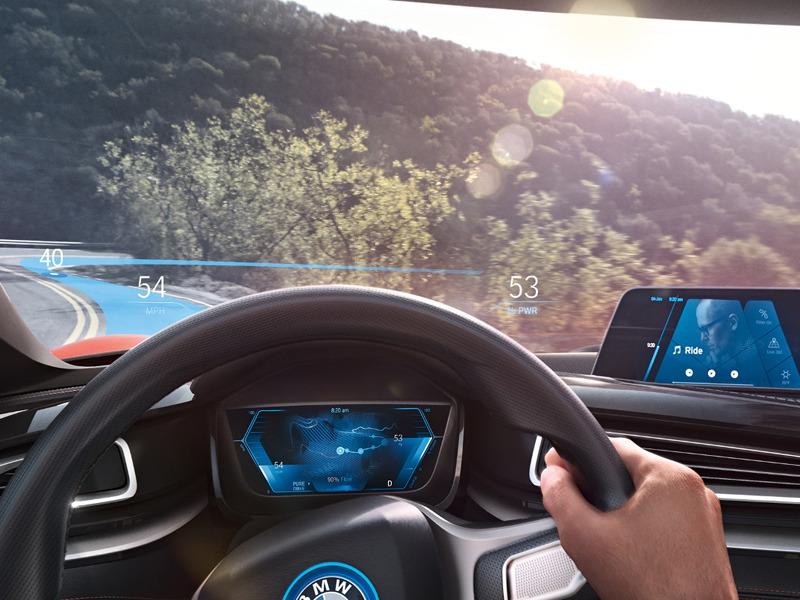 Plan on seeing augmented reality features in more cars over the next few years.