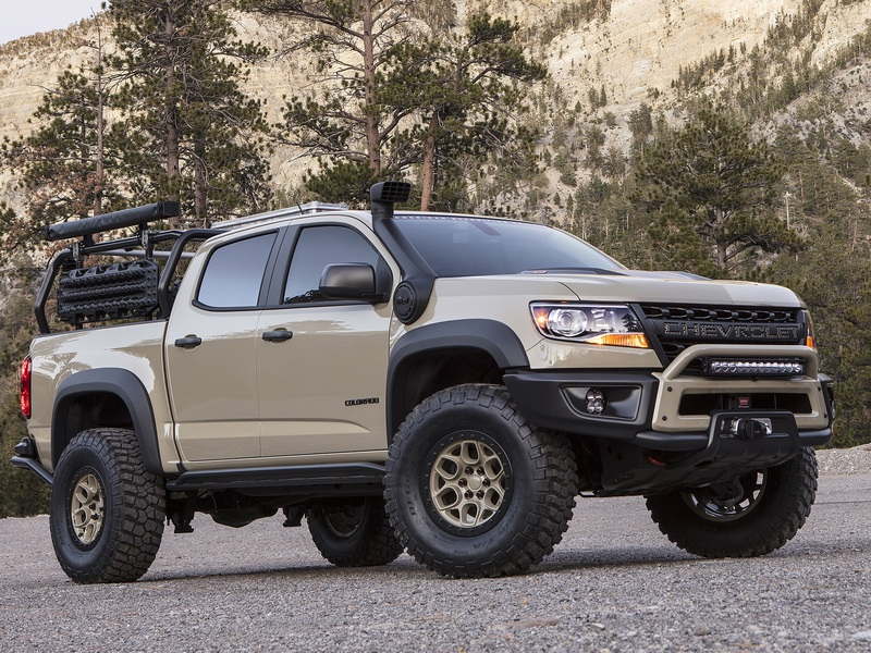 chevrolet colorado zr2 aev and race development trucks appear at sema web2carz. Black Bedroom Furniture Sets. Home Design Ideas