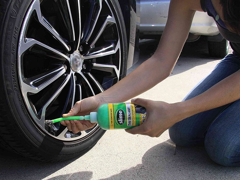 A Slime tire repair kit can get you back on the road in no time.