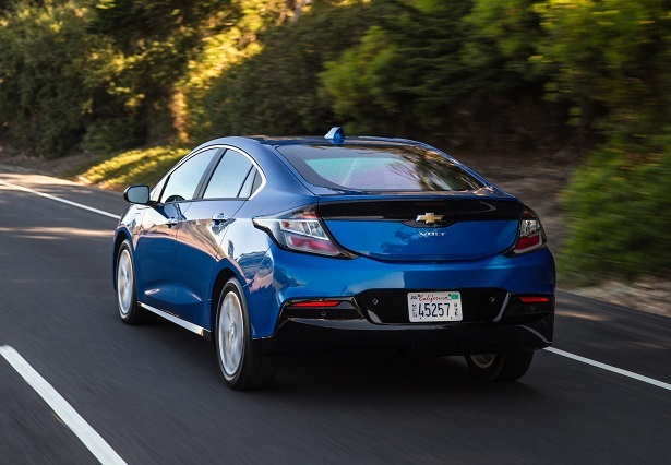 blue 2018 Chevrolet Volt rear view