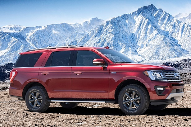2018 Ford Expedition red profile