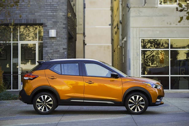 2018 Nissan Kicks orange profile