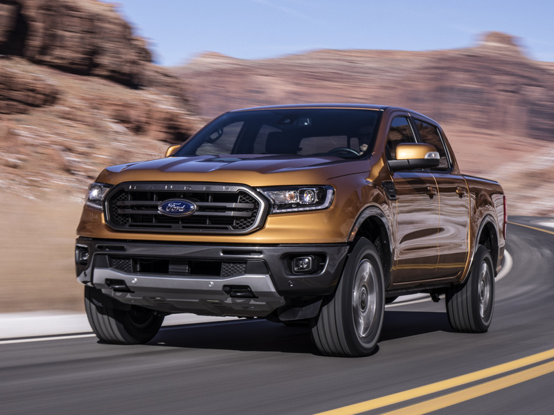 The 2019 Ford Ranger presents a bold face to the world.