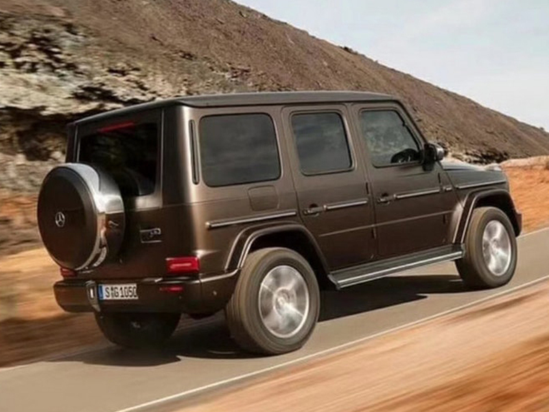 The all-new Mercedes-Benz G-Class keeps with its classic, boxy style.