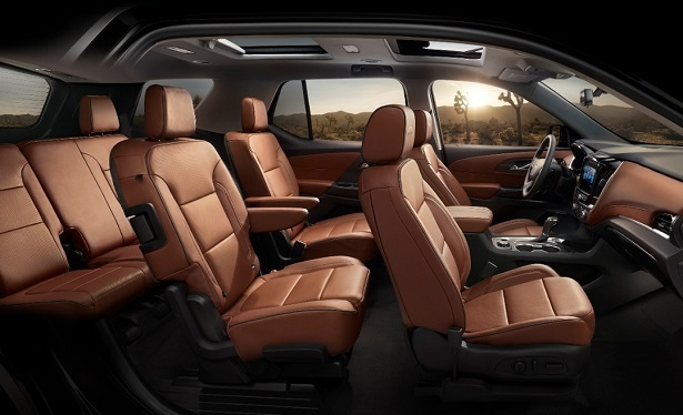 Chevrolet Traverse Captain S Chairs Seating Configuration