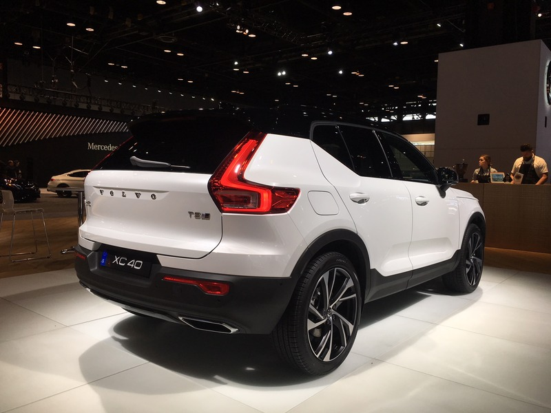 The new Volvo XC40 crossover is just one of the new models here in Chicago.