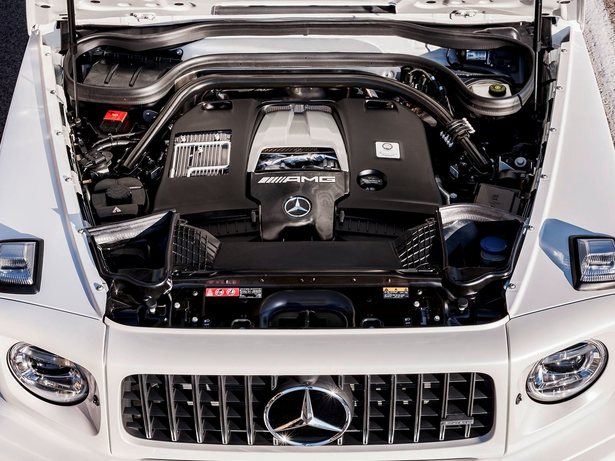 2019 mercedes-amg G63 white engine