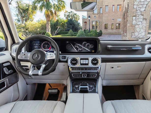 2019 Mercedes-AMG G63 white interior
