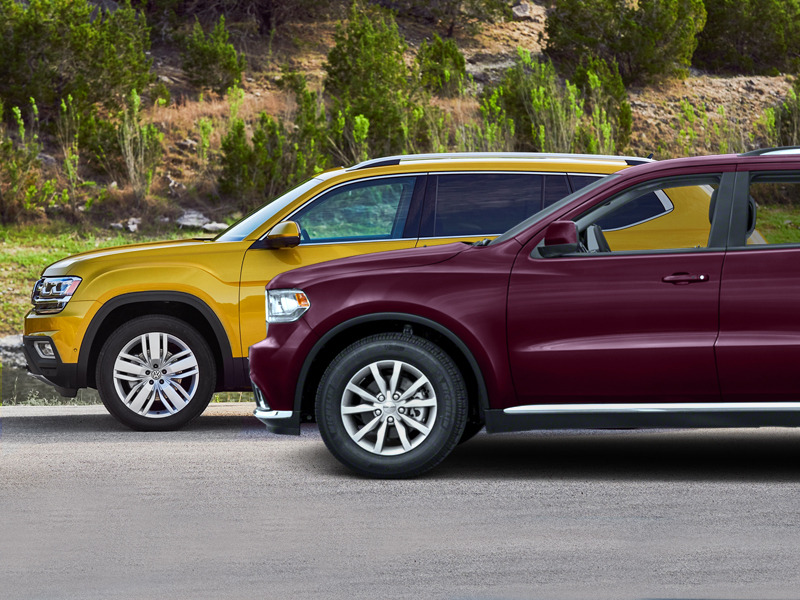 VW's new Atlas takes on Dodge's well-established Durango.