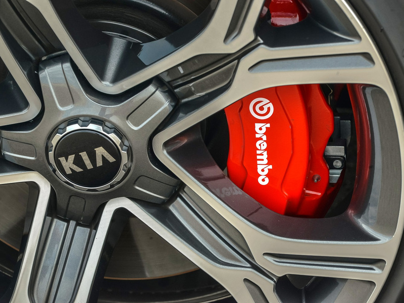 The Kia Stinger gets some Brembo high-performance brakes.