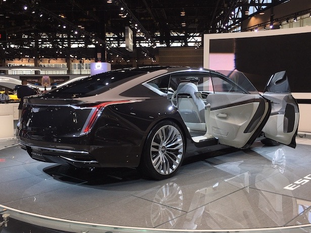 Cadillac Escala Concept Chicago Auto Show rear 34 doors open