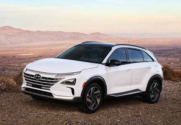 Hyundai Nexo fuel cell white desert