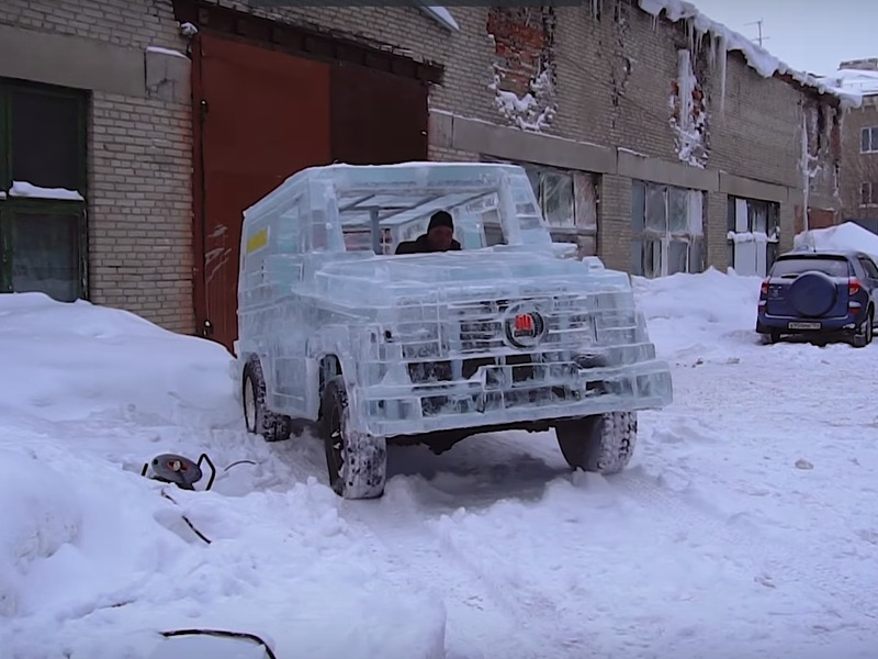 Would you drive this ice block around?