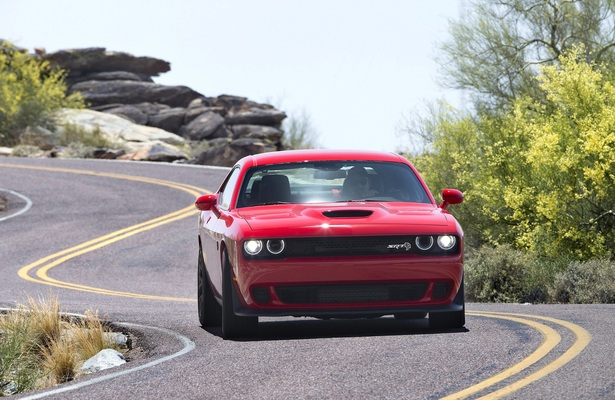 Dodge Challenger On A Curvy Road