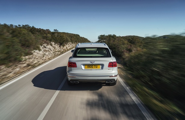 Bentley Bentayga hybrid rear view