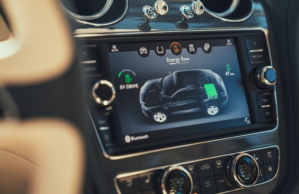 Bentley Bentayga Hybrid infotainment screen