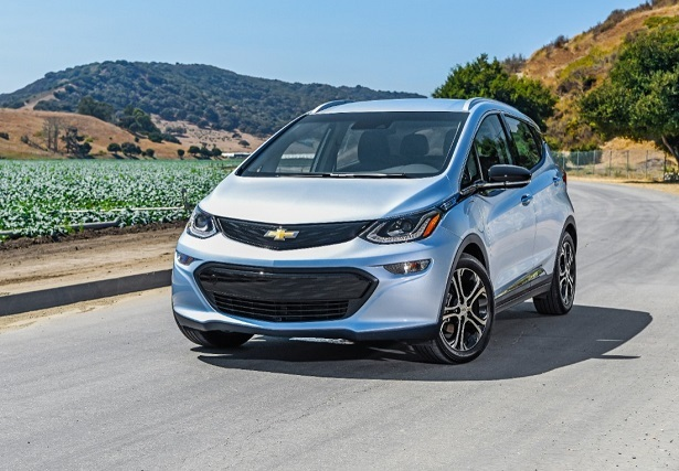 Chevrolet Bolt front view in sliver