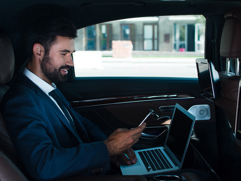 You can get your work done on the go with in-car Wi-Fi.