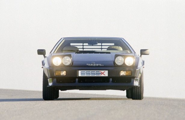 The front of the Lotus Esprit Turbo with headlights up