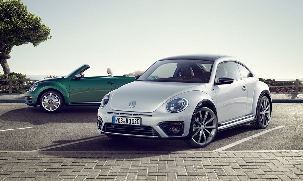 volkswagen beetle white and convertible green