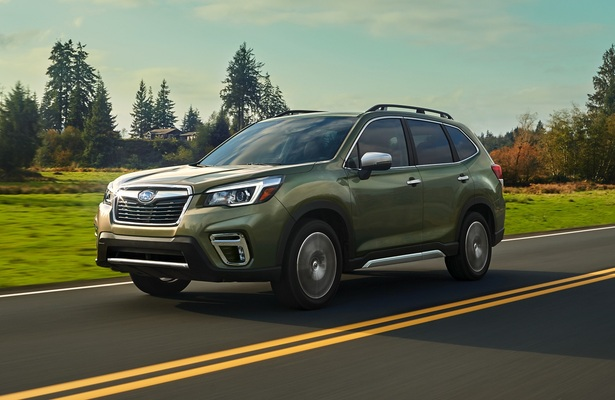 2019 Subaru Forester crossover vehicle driving on a road
