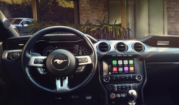 Ford Mustang infotainment system with Apple CarPlay and Android Auto