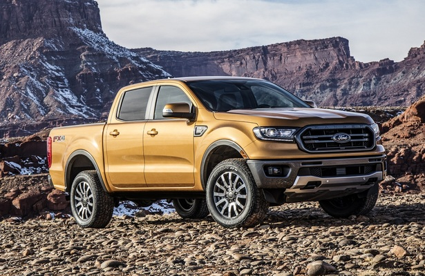 2019 Ford Ranger in orange and off-road