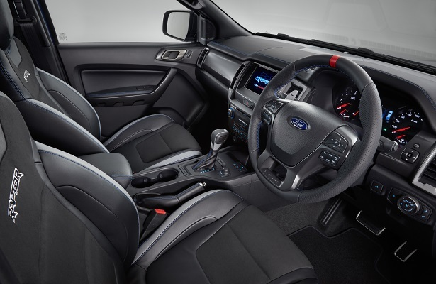 Ford Ranger Raptor interior view