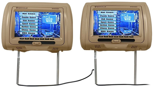 Rockville Headrest Monitor with DVD
