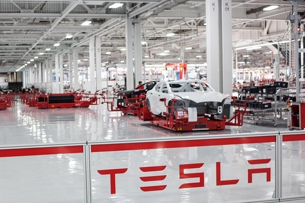 Tesla Model 3 production line