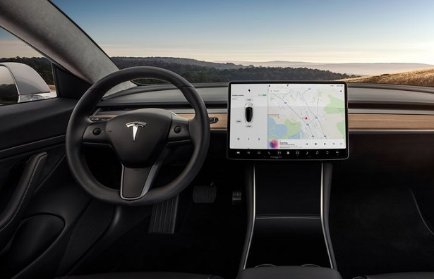 Tesla Model 3 interior view