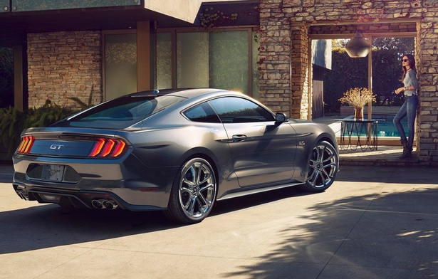 The 2018 Ford Mustang has real exhausts