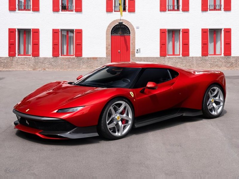 the new ferrari sp38 actually looks like a 2018 ford gt web2carz. Black Bedroom Furniture Sets. Home Design Ideas