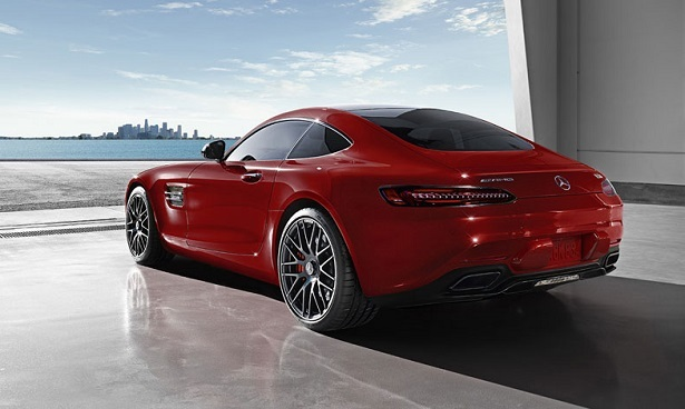 mercedes amg gt red rear 58