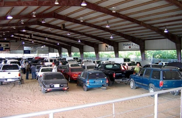 Old cars at auction